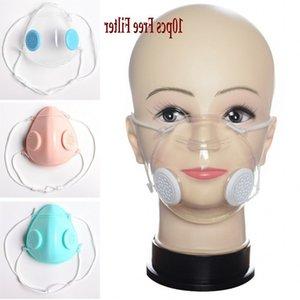 Válvula transparente respiração rosto claro Com Duplo válvula anti-poeira lavável Deaf Mute Máscaras Designer For Kids BWE54