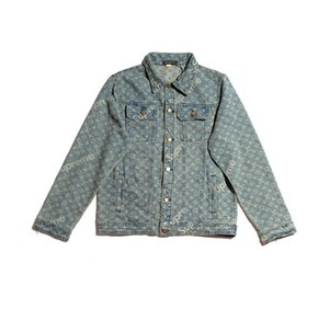 2020 Art und Weise heiße Verkäufer Brief Jeansjacken lange Hülse bestickte Jacken für Männer und Frauen Liebhaber