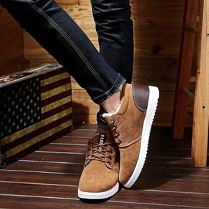 designer shoes 2019 new Winter Men's Boots Ankles Fashion Shoes Snowshoes Fashion Warm Boots Bottom heels and Round Head Shoes