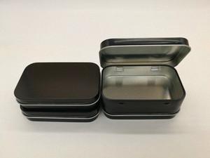 캔 fY72 번호에서 온라인 새로운 도착 블랙 경첩 주석 상자 사각형 선물 상자 씰링 일반 주석 95x60x21mm 온라인 포장지 주문 선물 가방