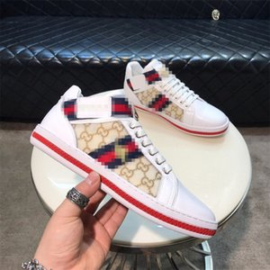 Italy Vintage Ace Bee Shoes Fashion Luxury Platform Dress Casual Men Women Shoes Snake Star Triple Red White Real Leather Designer Sneakers