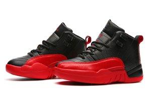 Bambini Jordon 12 rosa nero rosso scarpe bianche da gioco gioco palla da gioco PE Boys Girls Basketball Shoe Store con scatola U28-US35