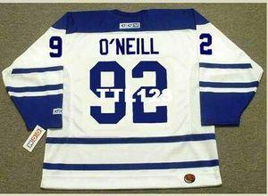 Hommes # 92 Jeff O'Neill Maple Leafs de Toronto 2005 CCM Hockey Jersey ou sur mesure un nom ou un numéro rétro Jersey