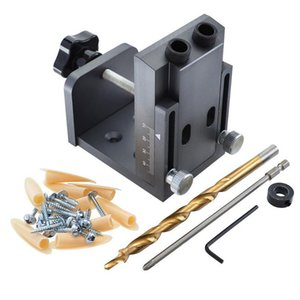 9mm Jig Pocket Hole Kit Wood Vertical Drilling Detachable Locator For Furniture Connecting Hole Puncher Carpent