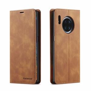 Caseme Lüks Deri Ayaklı Cüzdan Kılıf İçin Huawei P40 Pro P30 P20 Mate 20 Lite 30 Lite Kart Yuvası Telefon Kapak Mate