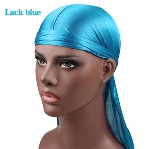 2020 17 الألوان الرجال النساء الحرير باندانا ذكر حريري أغطية الرأس العصابة القراصنة القبعات للجنسين في الهواء الطلق قبعات شحن مجاني