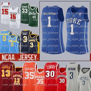 Zion 1 Williamson NCAA Duke Blue Devils Jersey 12 Ja Morant Murray State Racers Università Laettner Basketball Maglie