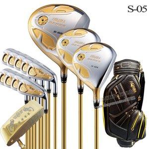 New Golf Clubs Honma S-05 Jeu complet clubs 4star Golf + pilote + bois + fer putter + sac arbre graphite Golf headcover Livraison gratuite