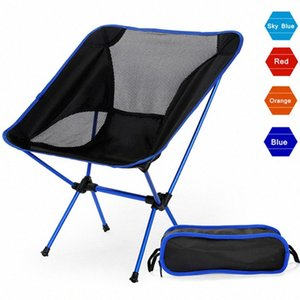 Portátil Camping Beach Chair Lightweight Folding Pesca Outdoorcamping Outdoor Ultra Luz laranja escuro Red Blue Beach Chairs jB0Z #