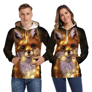 Hot Sale new Couple couple clothes hoodie hoodie 3D digital printing Christmas dog