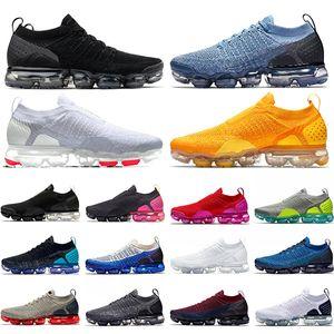 Nike Air Vapormax 2.0 Negro Blanco Zapatos casuales Lona Naranja Grim Reapers Hombres Mujeres Diseñador Zapatillas Zapatillas Deportes Caminatas Senderismo
