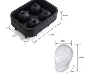 New Design 3d Skull Head Ice Cube Mold Halloween Home Bar Silicone Mold Skull Ice Cube Tray Biscuit Cake Chocolate Maker1gFH#
