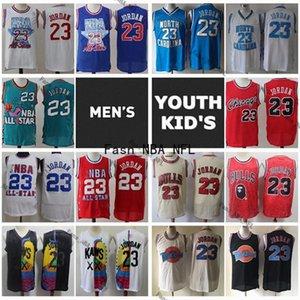 Vintage 23 Michael JD Jersey Mens Youth Kids Bull 23 Michael JD Stitched Tune Squad All StarFashionnba Swingman Basketball Jersey