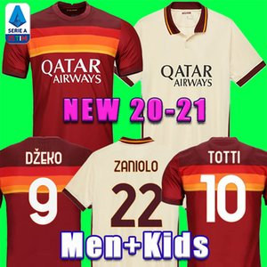 Thai 20 21 DZEKO PEROTTI PASTORE Zaniolo camisa de futebol roma 2020 2021 TOTTI jerseys camisa kit de futebol DE ROSSI como maillot de pé roma
