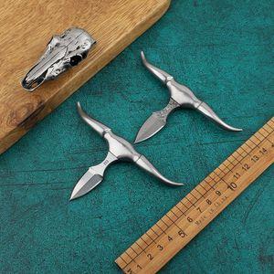 Yeni D2 Mini bıçak katlama Mini sabit bıçak çay itme açık kamp cebi taktik kolye sağkalım bıçak bıçağı