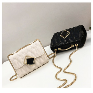 2020 New Female Bags Foreign Fashion Hasp Small Square Bag Popular Chain Crossbody Female Handbag With Free Shipping