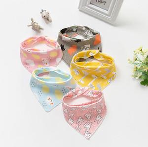 Baby Bibs Triangle scarf Cotton Cartoon Children Kids Toddler Bibs Babador Dribble Bibs Newborn Slabber Cloth Bib