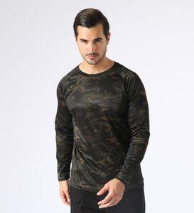 A659-3 Men's Slim Fit Combat Rapid Assault Shirt Tactical Airsoft Camouflage Long Sleeve Shirts
