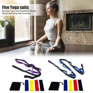 Hot Sale Yoga Belts Multi-function 6pcs set Yoga Latex Rubber Resistance Bands Stretch Belt Strap Fitness Equipment