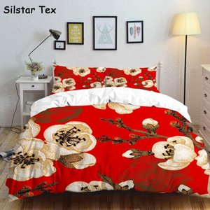 Silstar Tex Vintage Flowers Bedding Set Bed linen 3pcs Modern Style Quilt Cover Duvet Cover Sets Flat Sheet Livingroom