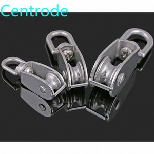 304 stainless steel single   double pulley wire rope chain traction fixed pulley lifting load single Nshu#