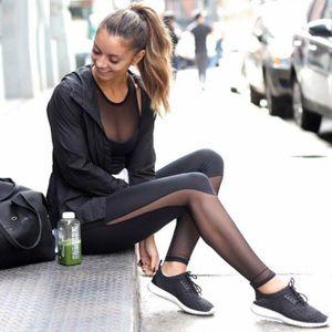 # H40 polainas Mujeres malla negra transparente cómodos Leggings Pantalón de entrenamiento Sexy Slim Fit Leggins para las mujeres Ropa Deportiva