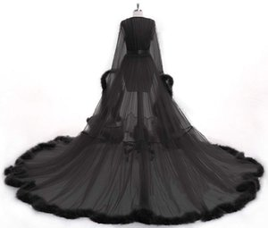 Bathrobe Sleepwear Woman Illusion Jumpsuits Robe Long Party Wedding Dresses Petite Plus Size Custom Made Bride Gowns