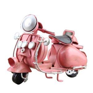 Regalo creativo multicolor Pizzaboy modelo en miniatura de metal retro del ornamento de la decoración del hogar de la motocicleta del hierro Crafts niños de juguete de cumpleaños T200709