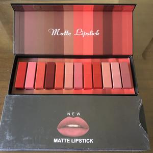 2020 New Beauty Brand Matte Lipstick 12pcs box Lip Make up 12 Colors Lipstick High Quality Free Shipping