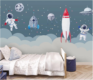 3d wallpaper custom photo mural Simple space rocket children's room girl bedroom cartoon mural Home interior wallpaper for walls in rolls
