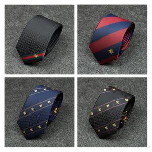 New Design Ties For Men Classic Bee Pattern Wild Party Necktie Fashion Slim 7CM Wedding Business Male Casual Gravata