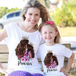 Cute Family Look Matching Clothes Mommy And Me Tshirt Mother Daughter Son Outfits Women Mom T-shirt Baby Girl Boys T Shirt 1924