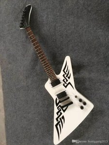 Wholesale Explorer Signature Electric guitar mahogany body in white 160106-0401