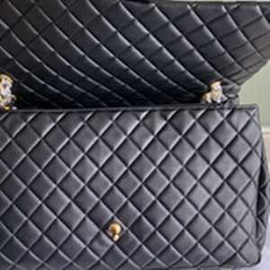 Les femmes classiques de grande capacité molletons 46CM matelassée chaîne d'épaule fourre-tout sac shopping aéroport Sac Weekender Les sacs fourre-tout sac à main
