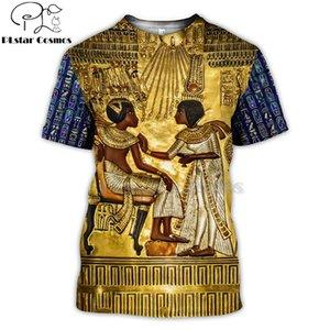 Mısır Firavun Anubis PLstar Cosmos Horus Eski Horus Mısır Tanrı Göz 3d t shirt tee karşıya komik Harajuku kısa kollu-3 MX200509
