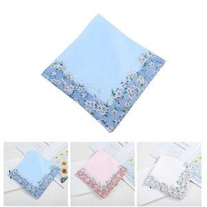 Algodón impreso flores sólido cuadrados suaves mujeres cae caramelo color floral hermoso handkerchief niñas muñequera de mano para la banda de sudor toalla lufs