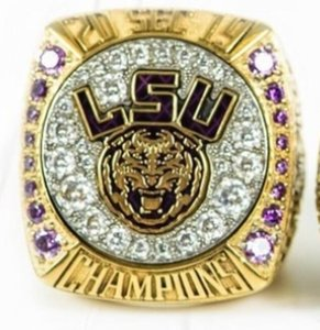 LSU 2019 2020 Geaux Tigers SEC Team Champions Championship Ring With Wooden Box Fan Men Gift Wholesale