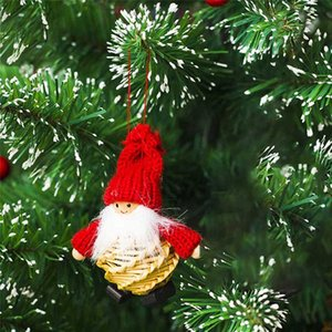 2018 New Santa Claus Christmas Hanging Ornaments Pine Cone Xmas Doll Gift Tree Pendant Christmas Decorations For Home