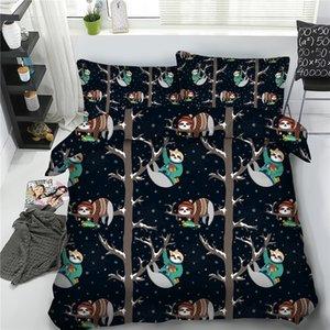 3pcs encantadoras tampas de banda desenhada preguiça edredon conjuntos para crianças Digital HD da cama de impressão Único Double Queen Rei lençóis tamanho meninos 3d