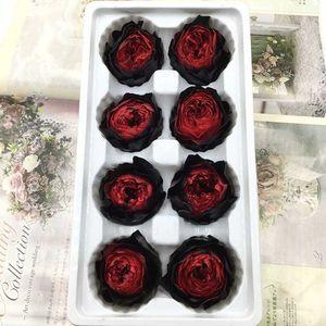8pcs box eternal flower Austin rose flower diameter 4-5cm high quality grade A Preserved Flowers gift box material