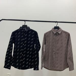 Voll Print-Shirts freies Verschiffen neue Rabatt Damen Designerhemden modische Baumwollpopelin Verarbeitung feine und bequemes Paar Allgleiches