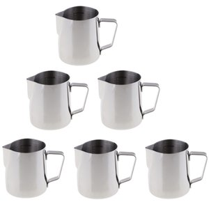 Set of 6 Capacity (300ml) Large Capacity Stainless Steel Pitcher Jug Candle Making Pot Cup for Lipstick Melting Wax Soap Base Supplies