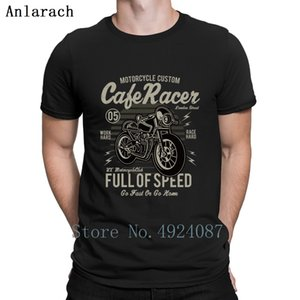 Cafe Racer Full of Speed Biker T Shirt Outfit Slim Fit Men Tops Spring Autumn Funny T Shirts High Quality Personalized Cotton