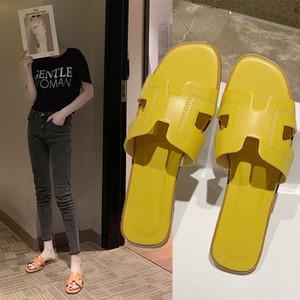 2020 Pantoffel Damen-Online rote Schuhe, flache Schuhe Sandalen fashionsandals für Outdoor-Bekleidung neuer Flach Pantoffel Summershaped