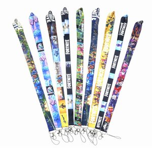 Cadeia Fortnite Top Quality Universal Mobile Phone Strap Anime chave dos desenhos animados Neck Lanyard Badge Holder Strap