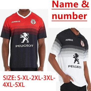 2020 Toulouse Início Rugby Jersey 2019 Stade Toulousain Toulouse Rugby Jerseys League jersey Tluth tamanho esportes camisa lazer S-3XL (pode imprimir)