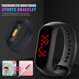 V8 Body Temperature Smart Watch Bracelet Display Clock Time Hours For Men Women kids Tracker Electronics Wristband Accessories