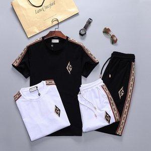 Hot sale men's designer sportswear alphabet summer sportswear short sleeve pullover brand jogging pants suit O-collar sportswear M-3XL