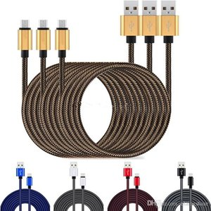 2.1A Fast Charging 1m 2m 3m Type c Micro usb cable Braided fabric alloy usb cable for samsung s20 note10