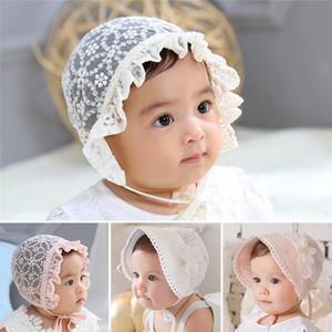 Lace-Blumen-Baby-Hut-Sommer Neugeborenes Baby Hat Cotton Mesh-Säuglingskleinkind-Sun Mädchen Bonnet Kappebeanie Foto Props